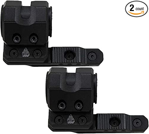UTG M-LOK (R) Offset Flashlight Ring Mount, Matte Black (2 Pack)