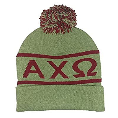 Alpha Chi Omega Fraternity Letter Winter Beanie Hat Greek Cold Weather Winter - New Colors AXO