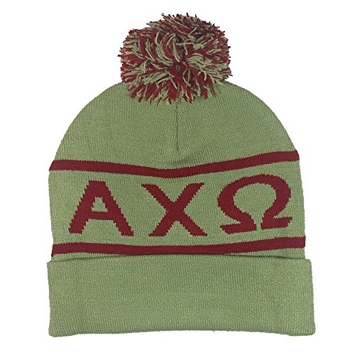 Alpha Chi Omega Sorority Letter Winter Beanie Hat Greek Cold Weather Winter - New Colors - Lauren Canada Ralph Lauren