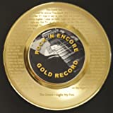 """Jim Morrison """"Light my fire"""" 24kt Gold 45 Record LTD Edition Display Laser Etched w/ Lyrics Only 500 made. Limited quanities. FREE US SHIPPING"""
