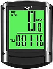 Dinoka Waterproof Bike Computer Wireless Bicycle Speedometer Large HD LCD Screen Display Odometer and High Acc