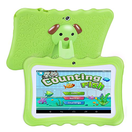 Ctzrzyt Upgrade Best Tablet for Kids, 7inch HD Display with Kid-proof Silicone Case (Quad Core, 8GB, Wifi &, Front…