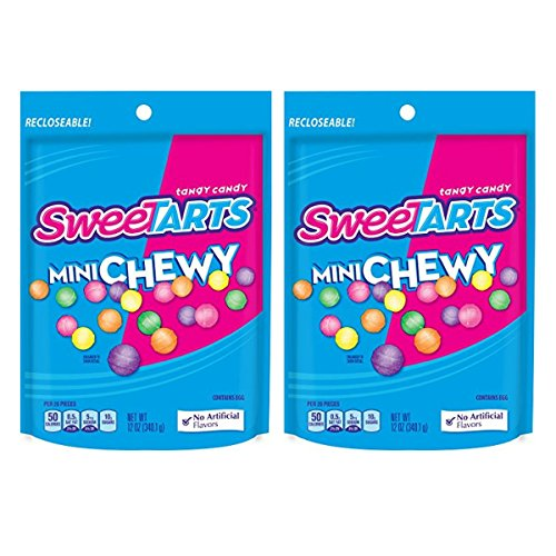 Sweetarts Resealable Bag, Mini Chewy, 12 oz (Pack of 2)