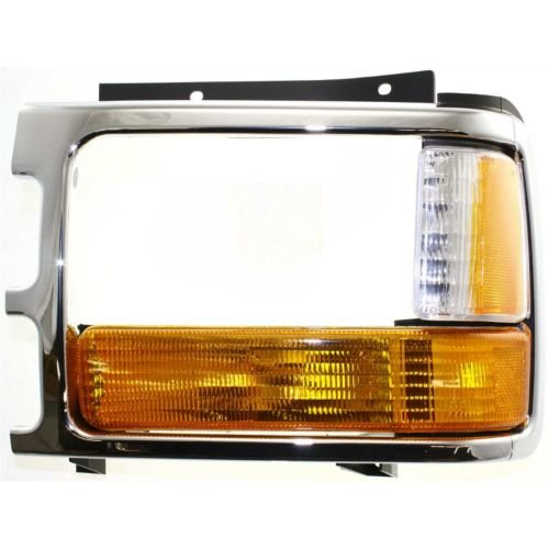 Make Auto Parts Manufacturing Front Driver/Left Direct Fit Chrome Bezel Headlight Door For Dodge Dakota 1991-1996 - CH2512153 (Bezel Door Assembly)