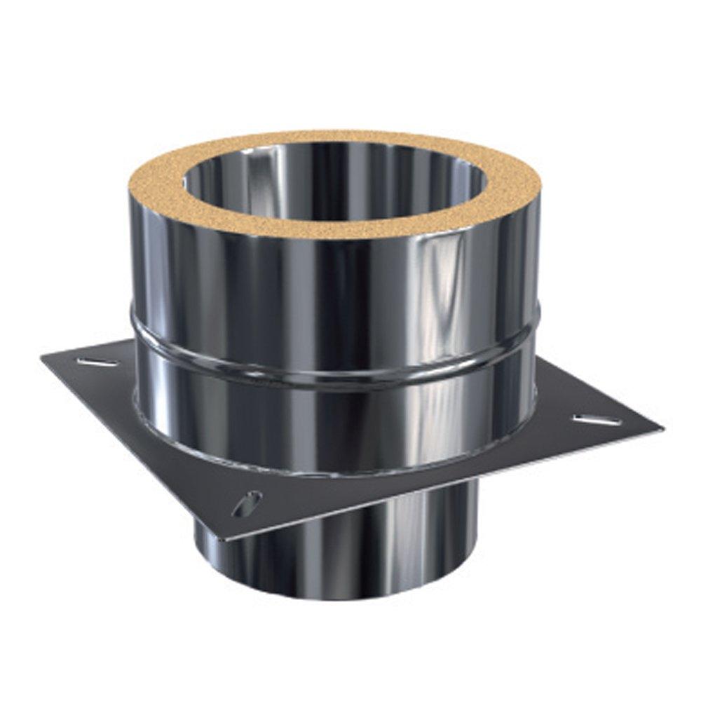Schornsteinverl/ängerung Kaminverl/ängerung doppelwandig 0,6 mm DW 113 1,0 Meter
