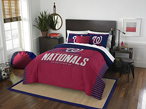 (Officially Licensed MLB Washington Nationals Grandslam Full/Queen Comforter and 2 Sham Set)
