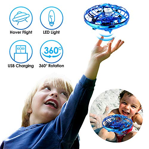 Hand Operated Drones, SHARKOOL Hands Free Mini Drone Helicopter for Kids Or Adults, Easy Indoor Or Outdoor Small Orb Flying Ball Drone Toys for Child