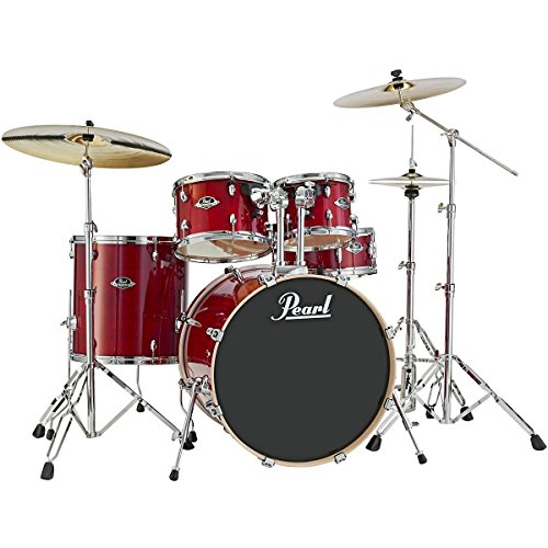 Pearl Export Lacquer EXL725/C246 5-Piece Standard Drum Set with Hardware, Natural Cherry