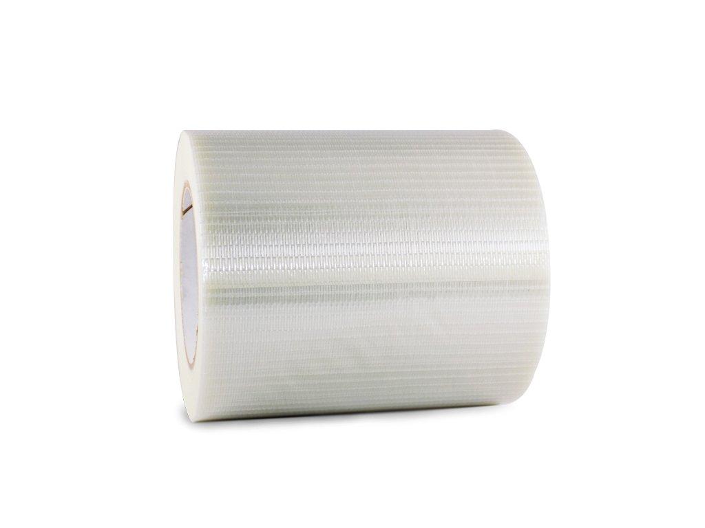 T.R.U. FIL-835B/D Transparent Bi-Directional Filament Strapping Tape: 6 in. x 60 yds.