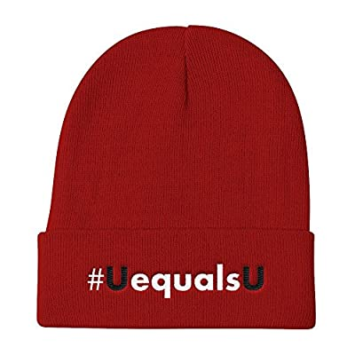 HIV Undetectable Equals Untransmittable Hat Knit Beanie Cap - One Size Red