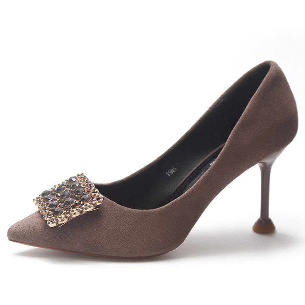 Yra Wildleder wies Toe Pumps für Damen formelle Kleidung Pumps Stiletto Shallow Business Schuhe