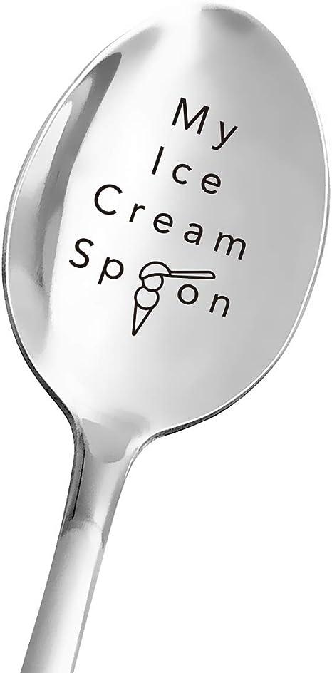 Centraliain Spoon Durable Stainless Steel Grandpas Ice Cream Spoon Coffee Tea Desserts Mini Scoop