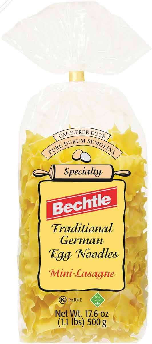 Bechtle mini-lasagne tradicional alemán Huevo fideos, 17,6 ...