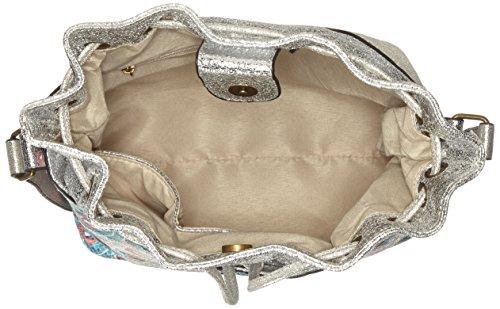 Argent cm Vita épaule Silber Sacs 13x25x26 B Deauville T femme x portés Laura H 0dqzzT