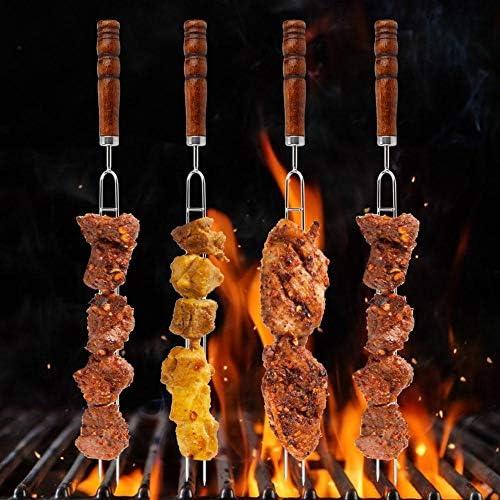 6pcs ustensiles de gril, fourchette de barbecue, ensemble de barbecue pour barbecue pour la maison