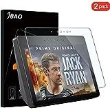 Jbao Direct Compatible Amazon Echo Show 2 Screen Protector, Premium Quality Tempered Glass [Anti-Scratch] [Anti-Fingerprint] HD/ 2.5D / Bubble-Free Film for Amazon Echo Show 2 [2 Pack]
