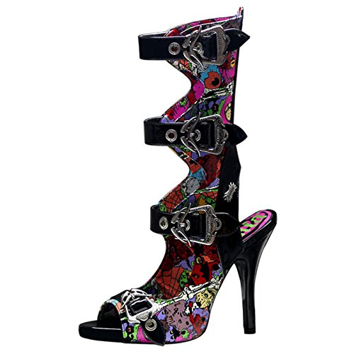 Demonia - Defining Alternative Footware Peeptoe Sling Sandaletten Zombie-102