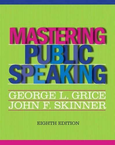 Mastering Public Speaking