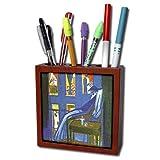 Voyeur Toilet 3dRose ph_100918_1 Picture of Famous Painting Voyeur by Salvador Dali Tile Pen Holder, 5-Inch