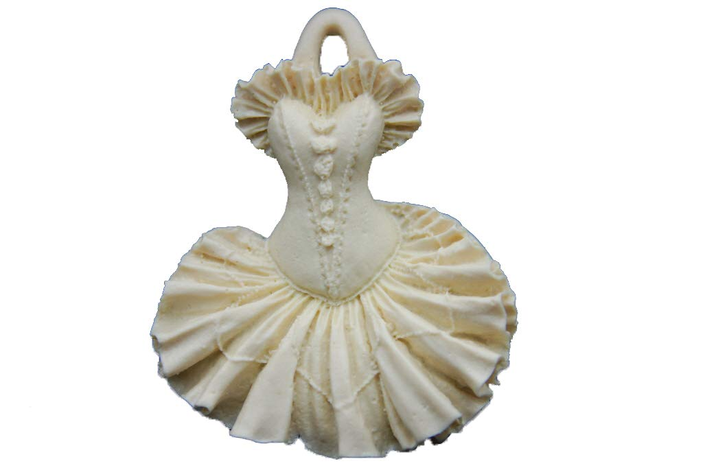 Ballet Dress, Handmade Silicone Mold Mould sugarcraft Candle Clay ice Tray Chocolate soap Making MOLDB