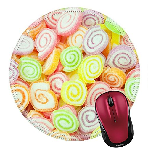Liili Round Mouse Pad Natural Rubber Mousepad IMAGE ID: 25728220 Assortment of colorful fruit jelly candy ()