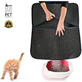"WePet Double Layer Honeycomb Cat Litter Mat X Large 30"" x 23"" Litter Trapping Waterproof Non Toxic Soft Light EVA Foam Rubber Made"