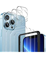 YOCKTECH voor iPhone 13 Pro Max Screen Protector + Camera Lens Protectors (3+3 Pack), Ultra Dunne Clear Film Gehard Glas Screen Protector voor iPhone 13 Pro Max 6.7 inch