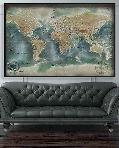 El Mariner de pasador de empuje Mapa - Mapa de viaje con ...