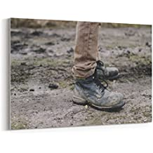 Westlake Art - Canvas Print Wall Art - Shoe Soil on Canvas Stretched Gallery Wrap - Modern Picture Photography Artwork - Ready to Hang - 18x12in (*7x-ba0-93d)