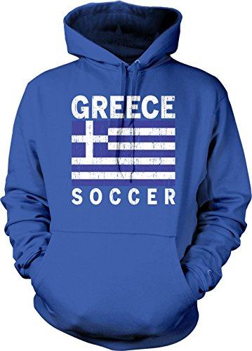 fan products of Greek Flag Hellenic Football, Greece Soccer Hooded Sweatshirt, Hoodteez XXL Royal