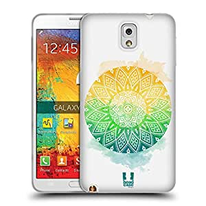 Head Case Designs Blooming Sun Tribal Circles Soft Gel Back Case Cover for Samsung Galaxy Note 3 N9000 N9002 N9005