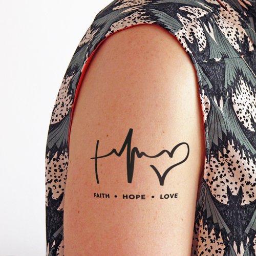 Fe, Esperanza, Amor - Tatuaje temporal (conjunto de 2): Amazon.es ...