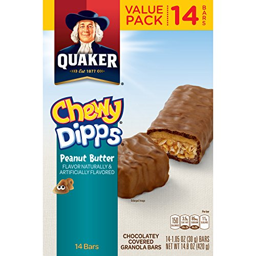 Quaker Chewy Dipps Peanut Butter Granola Bars,1.05 Oz, 14 Count