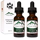 New – Peak Hemp – 1,000mg (Dog) Full Spectrum PET Oil Hemp Extract – (2 Pack) Two 500mg 1 oz Bottles – Peanut Butter Flavor