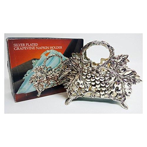 Godinger/Paul Revere Silver Plated Grapevine Napkin - Grapevine Silver Plated