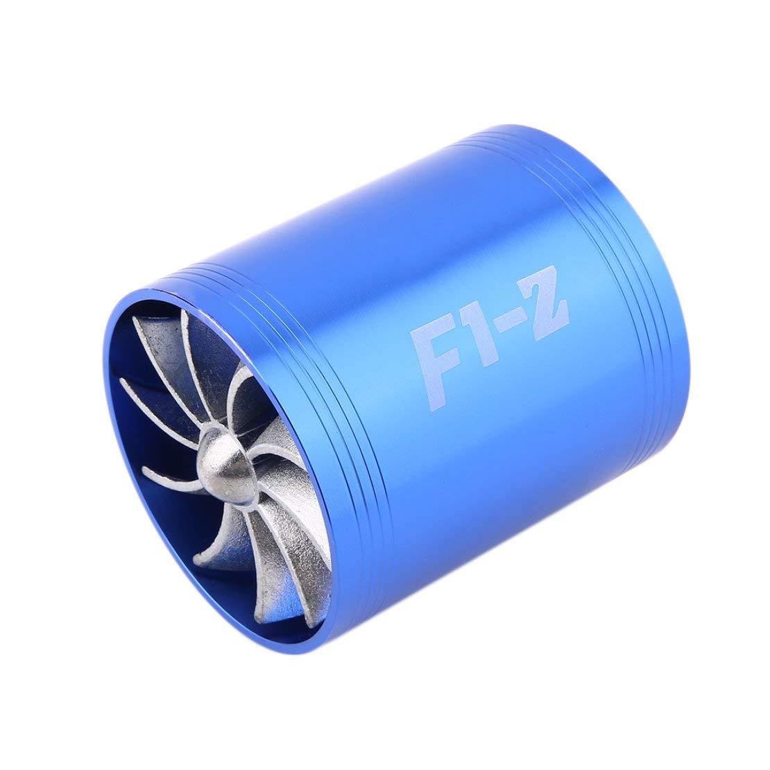 Universal Durable Practical Super Charger Double Turbonator Air Intake Fuel Saver Turbo Cargador Fan