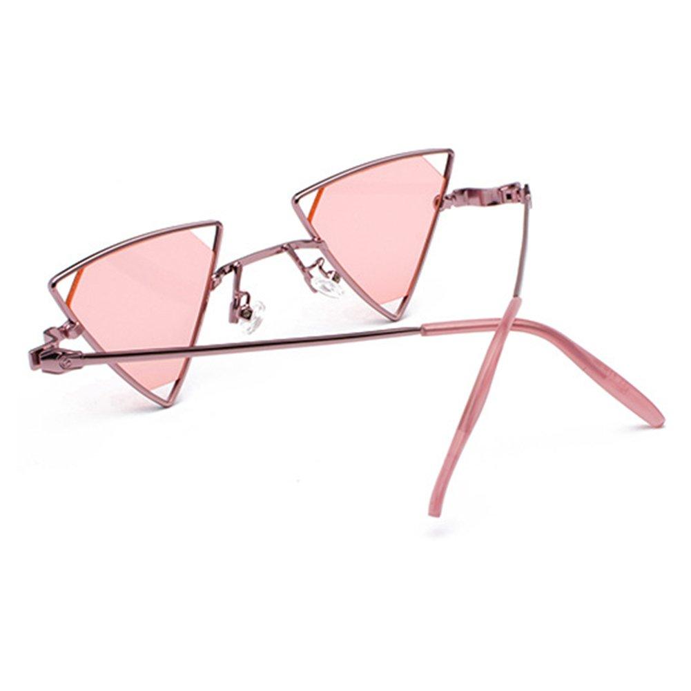 juqilu Metall Steampunk Stil Sonnenbrille M/änner Frauen Coole Gl/äser Mode Dreieck Aush/öhlen