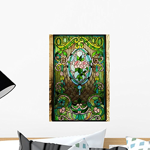 Wallmonkeys Beautiful Stained-Glass Window Wall Decal Peel and Stick Graphic WM324345 (18 in H x 13 in W)