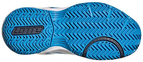 Lotto Stratosphere III CL S, Zapatillas de Tenis Unisex infantil Blanco / Azul (Wht / Atlant)