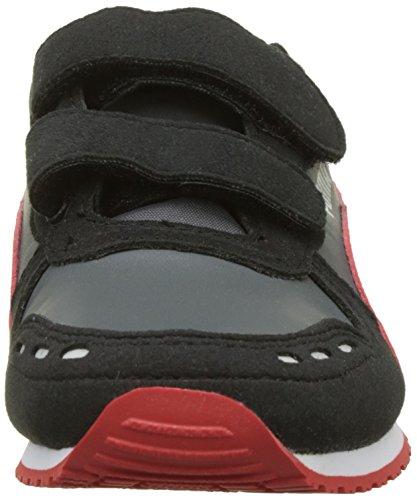 Puma Unisex-Kinder Cabana Racer SL V PS Sneaker Schwarz (Dark Shadow-Flame  ... 86569fe3af