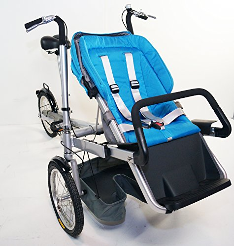 Mother Baby Stroller Bike Carrier 3 Wheels Folding Bicycle Pushchair Bike For Jogging. 3 Speed. rideONEcar