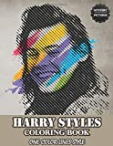 Harry Styles Coloring Book One Color Lines Style: The One direction group fun's Coloring Book For Stress Relief And Relaxation