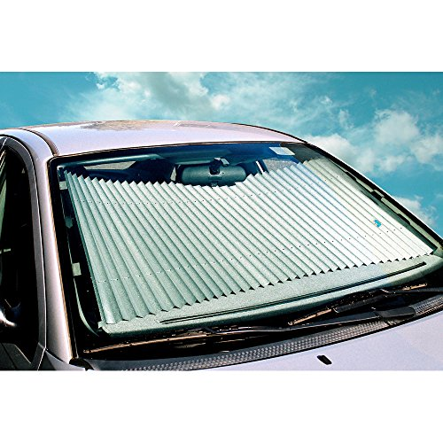 (Dash Designs 27 inch Universal Fit Retractable Auto Windshield Sunshade fits 2010-2015 Toyota Prius and Other Large Windshield Vehicles)