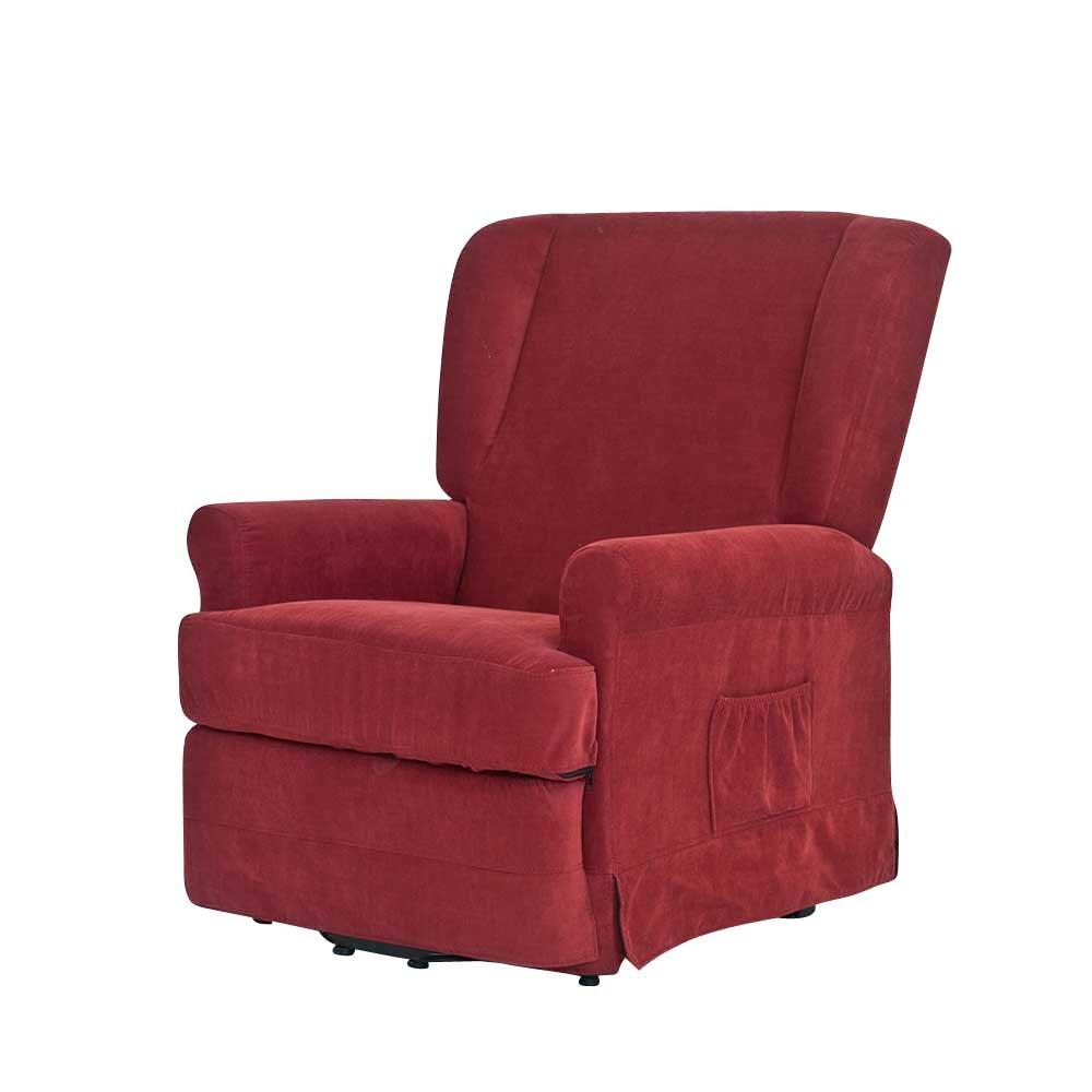 Sessel in Rot mit waschbarem Bezug Pharao24