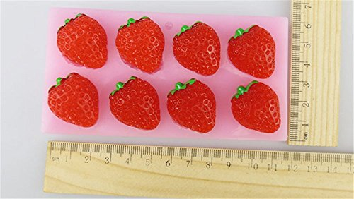 SNW Strawberry Series Fondant Mold Soap Silicone Bakeware Chocolate Mold Cake Decoration