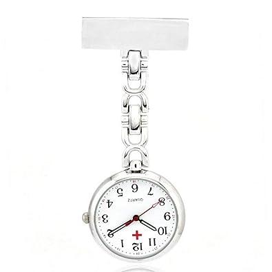 Aofocy Cuarzo reloj enfermera reloj pulso reloj broche reloj enfermera relojes: Amazon.es: Joyería