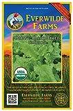 Everwilde Farms - 1 Oz Organic Black Seeded Simpson Leaf Lettuce Seeds - Gold Vault Packet