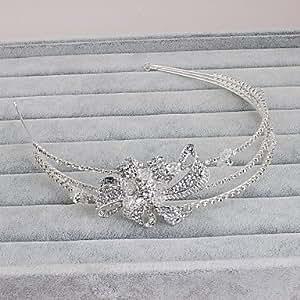 Women's Rhinestone Headpiece-Wedding Special Occasion Casual Office & Career Outdoor Headbands 1 Piece,Sliver