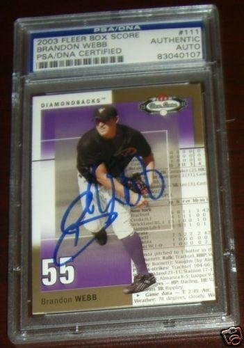 Brandon Webb Signed Auto Diamondbacks Card Slab - PSA/DNA Certified - Baseball Slabbed Autographed Cards