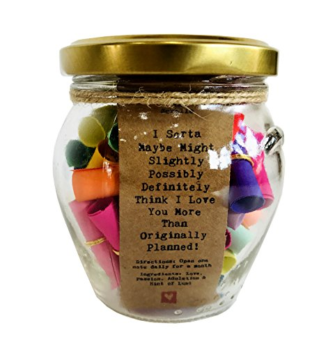 Little Jar of Big Ideas I Sorta Maybe Might Slightly Possibly Definitely Think I Love You More Than Originally Planned - Thoughtful Gift - Unique Present - Artisan Handcrafted Gift (Gift Ideas Jar)